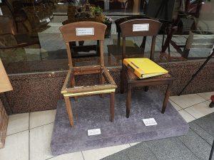 椅子修理前後の比較モデル