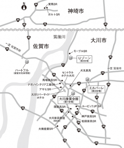 Okawa The Future Furniture 2016 マップ