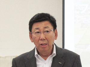 生産開発本部取締役生産開発本部本部長の上田隆司氏