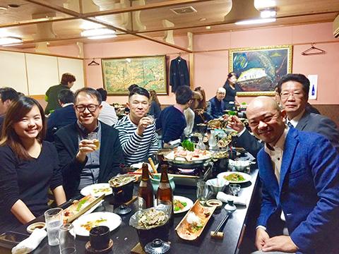 東アジアからのバイヤー集団との懇親会の模様